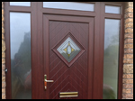 Rosewood uPVC Front Door and Side Panels