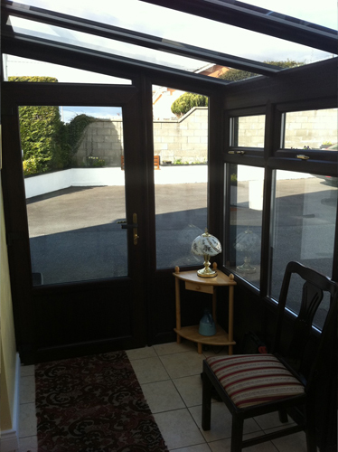 Rosewood uPVC lean-to conservatory? (inside)