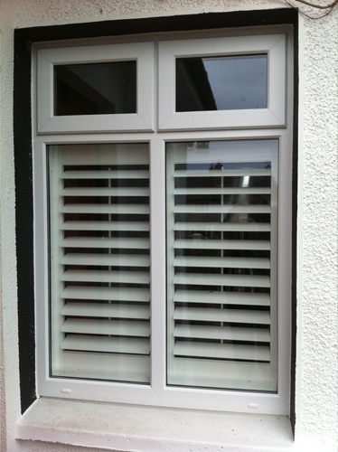 White uPVC window with two top openings?